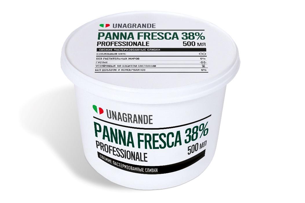 PANNA FRESCA 38% - свежие пастеризованные сливки в удобной упаковке